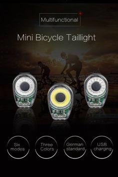 Machfally Smart Bicycle Tail Light USB Charging Warning Light LED MTB Round Rear Back Safety Lantern