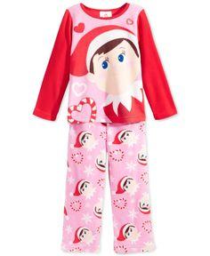 Ame Toddler Girls' 2-Piece Elf On The Shelf Pajamas