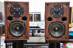 Acoustic Energy AE1, with spun metal bass drivers...always lovely in their wooden cabinets