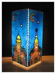 Zöld moha Meselámpa www.meselampa.hu by AsterGlass Design (Burján Eszter 'Aster' üvegfestő művész)