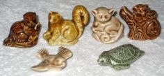 Lot of 5 different Wade ceramic miniature figurines Includes: Horse-Pony (factory sealed) Monkey Squirrel Lemur Beaver The pon Miniature Figurines, Collectible Figurines, Red Rose Tea, Monkey 3, Lemur, My Childhood, Vintage Toys, Squirrel, Red Roses