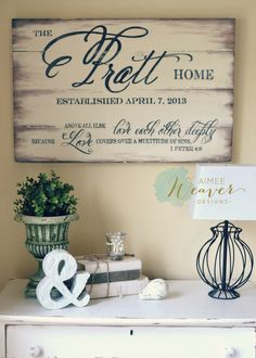 Family Name Sign 24x30 {customizable} – Aimee Weaver Designs, LLC