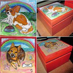 Painted Boxes, Hand Painted, Rainbow Bridge, Birdhouses, Wood Boxes, Savannah Chat, Scooby Doo, Presents, Memories
