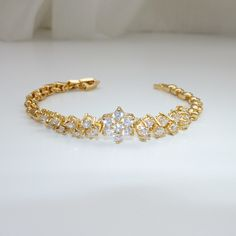 #MothersDay #Giftidea #Fashionjewelry 18k #goldplated #cubiczirconia #bracelet Mother's Day #Sale until May 10, 2015; Original price: C$19.99 https://www.ibrightenshop.com/store/p75/Cubic_zirconia_gold_plated_bracelet.html
