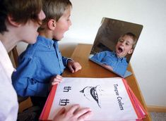 Have your child watch them self in a mirror when they talk, this can help them fix their speech impediment.