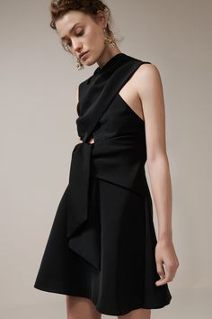 HIDE AND SEEK MINI DRESS black