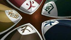 5 Kages, hats, Hokage, Kazekage, Mizukage, Tsuchikage, Raikage; Naruto