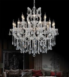 CWI Lighting Maria Theresa 30 inch 19 Light Chandelier with Chrome Finish Wheel Chandelier, Rectangle Chandelier, Chandelier Lighting, Chandeliers, Bathroom Lighting, Mirror Lamp, Mirrors, Light Bulb Bases, Light Up