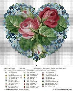 Como hacer bordados de rosas con sus graficos01
