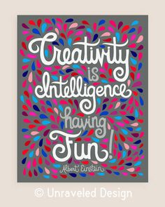 8x10in Albert Einstein Quote Illustration por unraveleddesign