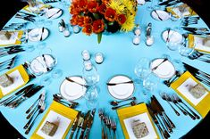 cheery colors! Looks like a fun reception :)