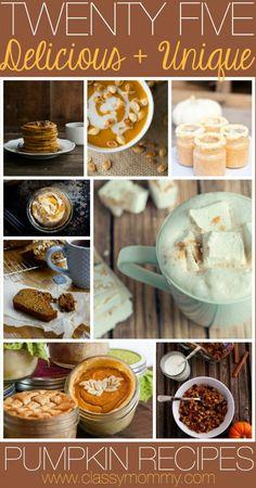 25 delicious and unique pumpkin recipes