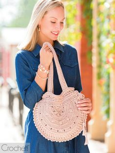 With all the boho fashion styles out at the moment, this crochet purse is the perfect DIY fashion statement. This elegant design is crocheted with nylon cord, & Read More . Annie's Crochet, Crochet World, Crochet Purses, Crochet Crafts, Crochet Bags, Crochet Stitches, Crochet Projects, Craft Projects, Purse Patterns