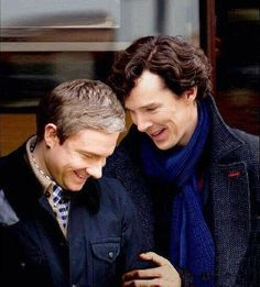 John Watson as played by Benedict Cumberbatch & Martin Freeman ~ BBC Sherlock Benedict Sherlock, Sherlock Bbc, Sherlock Fandom, Benedict Cumberbatch Sherlock, Watson Sherlock, Jim Moriarty, Sherlock Quotes, Sherlock Bored, Sherlock Series