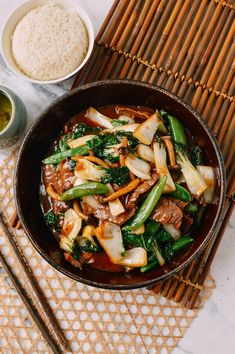 This Beef Vegetable Stir-Fry is a quick and easy dish to make anytime. Made with tender beef, crunchy vegetables, and that perfectly flavored sauce you expect from really solid Chinese food––it makes for an ideal weeknight dish. Chinese Broccoli Recipe, Broccoli Recipes, Vegetable Recipes, Asian Recipes, Healthy Recipes, Ethnic Recipes, Free Recipes, Healthy Food, Beef Vegetable Stir Fry