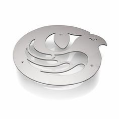 "Trivet ""Sanctuary"" by Holly Birkby for Carrol Boyes. Stainless steel, designed and manufactured in South Africa. Africa Art, Kitchen Art, All Design, Metal Art, Product Design, South Africa, Stainless Steel, Merchandise Designs, African Art"