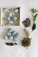 SET OF 12 CERAMIC EGGS
