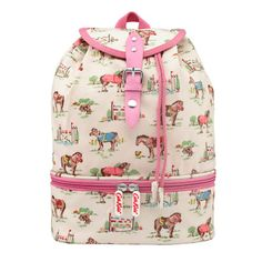 Pony Kids Compartment Backpack   Keep things in place with our kids compartment backpack in our Pony print. A special base compartment is perfect for food, and the drawstring opening is easy to get open and closed. Adjustable straps will change as they grow   Cath Kidston   Cath Kidston Shop, Kids Bags, Cute Bags, Our Kids, Little People, To My Daughter, Baby Kids, Backpacks, Purses