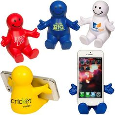 16c7a01a883 Customized Smiley Guy Mobile Device Holder Item  PL-4140 (Min Qty  25