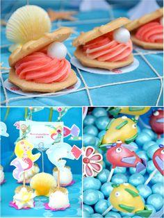 Under The Sea Birthday Party Cake Pops #cakepops #birthdays