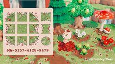 Animal Crossing Wild World, Animal Crossing Game, Motif Acnl, Grass Pattern, Path Design, Floor Design, Design Ideas, Motifs Animal, Sea Creatures