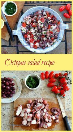 Octopus Salad Recipe, light and tasty.