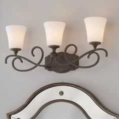 Check out Weathered French Country Bath Light - 3 Light from Shades of Light Modern French Country, French Country Bedrooms, French Country Farmhouse, French Cottage, Farmhouse Décor, Romantic Cottage, Country Kitchen, French Decor, French Country Decorating