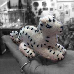 Snow Leopard Felt Ornament - Kork: Fiber Art Group via Silk Road Bazaar | Touchstone Gallery