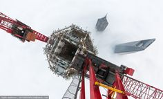 shanghai tower construction view