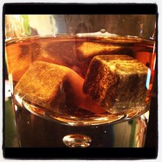 Love the pure indulgence of bourbon? Go order yourself some Whiskey Rocks right now.  Chilled w/o the watery ice