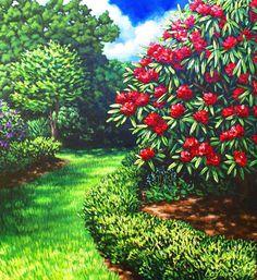 Pathway from the Lush series by New Zealand artist Caz Novak Nz Art, Art For Art Sake, New Zealand Landscape, New Zealand Art, Kiwiana, Art Gallery, Gallery Walls, Beautiful Artwork, Landscape Paintings