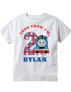 Hey, I found this really awesome Etsy listing at https://www.etsy.com/listing/192539893/thomas-the-train-birthday-shirt