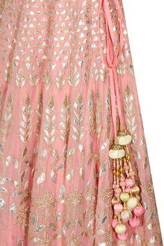 ANITA DONGRE Blush pink gota patti embroidered lehenga set available only at Pernia's Pop-Up Shop. Salwar Kameez, Kurta Lehenga, Saree, Churidar, Pakistani Dresses, Indian Dresses, Indian Outfits, Lehenga Designs, Indian Attire