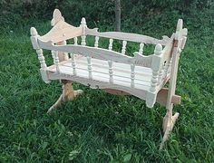 LadislavKurnota / drevená kolíska pre dieťatko Porch Swing, Outdoor Furniture, Outdoor Decor, Bassinet, Home Decor, Crib, Decoration Home, Room Decor, Porch Swings