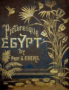 'Picturesque Egypt' by Georg Ebers, beautiful gilded book cover
