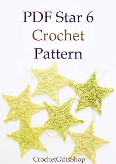 Crochet PATTERNS Christmas Star Ornaments PDF от crochetgiftsshop