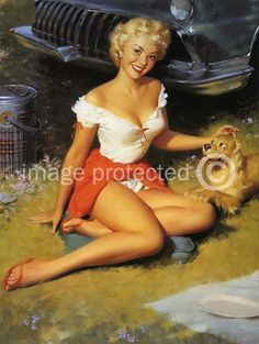 Bill Medcalf Vintage Retro Pinup Girl Poster - 11 x 17 Inch Poster by CH Artwork, http://www.amazon.com/dp/B0050E1O0G/ref=cm_sw_r_pi_dp_8Yufqb0Y8PC8Y