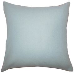 Yandel Solid Pillow Blue