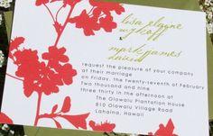 Modern Wedding Invitations Flower Lisette Sample by tuccipaperco, $4.00