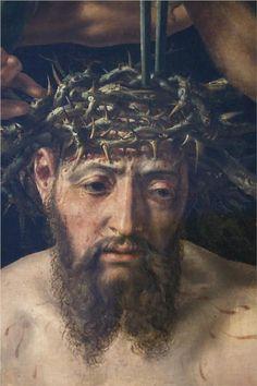 jesus-christ-crowned-with-thorns-1550 Maerten van Heemskerck Marten Jacobsz Heemskerk van Veen.