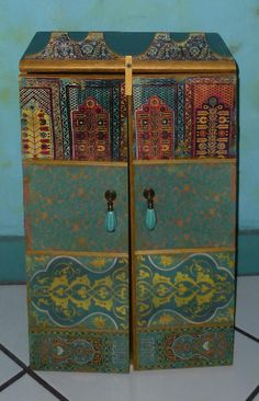 Moroccan Inspired Wall Cabinet For Jewelry By AfricanArtworkbyme, $205.00 ( Cabinet For Murphy Bed)