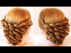 Surprise! This intricate looped updo is made out of simple 3 strand braids. Причёска из кос - YouTube