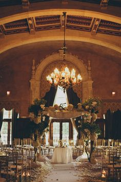 A different approach on indoor wedding ceremory decor