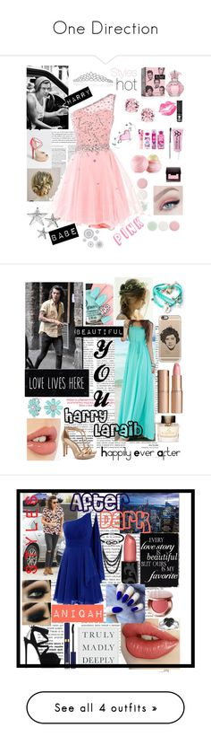 """""""One Direction"""" by onedirectiontown ❤ liked on Polyvore featuring Nails Inc., L. Erickson, Bling Jewelry, Eos, Laura Mercier, Manic Panic NYC, WALL, Wall Pops!, Casetify and Burberry"""