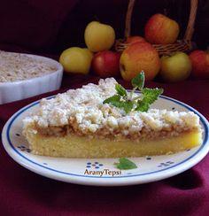 AranyTepsi: Kerek almás-morzsás pite