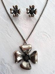 Online at Treasures to Treasure Frangipani Set Pendant Necklace, Jewels, Fashion, Moda, Jewerly, Fashion Styles, Gemstones, Fashion Illustrations, Drop Necklace