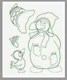 snowman with a crow - paper craft pattern Winter Activities, Craft Activities, Craft Patterns, Quilt Patterns, Christmas Coloring Sheets, Art Plastique, Christmas Colors, Xmas Decorations, Craft Items