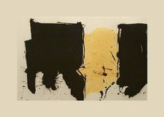 Robert Motherwell - 'Espana II (CR Aquatint and lift-ground etching on Moulin du Gue Rives de Lin paper, 1983 Robert Motherwell, Cy Twombly, Richard Diebenkorn, Gerhard Richter, Abstract Expressionism, Abstract Art, Collages, Collage Art, American Artists