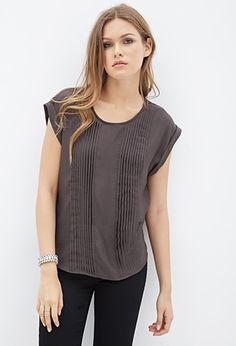 Woven Pintucked Blouse | FOREVER21 - 2000059317