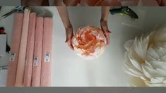 Crepe Paper from Carte Fini. Our Italian crepe paper is perfectly suited for creating realistic paper flowers, decorations, photo backdrops, DIY projects and more! Paper Flowers Roses, Crepe Paper Roses, Paper Peonies, Paper Flowers Craft, Large Paper Flowers, Crepe Paper Crafts, Ribbon Flower, Fleurs Style Shabby Chic, Crepe Paper Flowers Tutorial